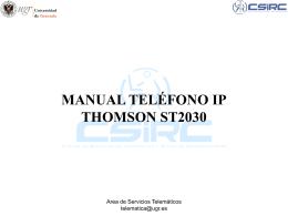 Manual Teléfono IP