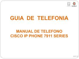 Guia de uso para Telefonos Cisco Modelos 7911.