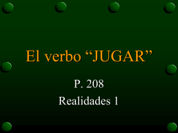 The Verb Jugar - Wywla spanish
