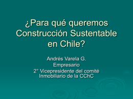 ¿Para qué queremos Construcción Sustentable en