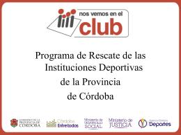 Nos Vemos en el Club - Gobierno de la Provincia de Córdoba