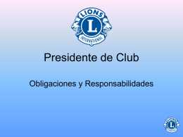 El presidente es - Lions Clubs International