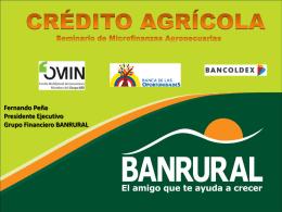 Presentación Adolfo Fernando Peña Pérez, Presidente, Banrural