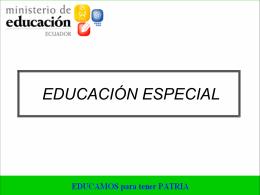 instituciones de educación especial