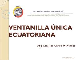 VENTANILLA ÚNICA ECUATORIANA