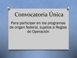 Convocatoria Única - Portal Docente de la Subsecretaria de
