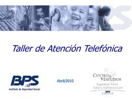 Acciones de atención telefónica