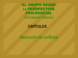 Tema 8. La resolución del conflicto