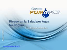 Riesgo en salud por agua no segura - Pumagua