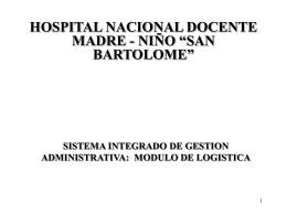 Presentación Hospital San Bartolomé I Parte