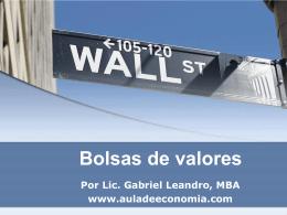 Bolsas de valores - Aula de Economía