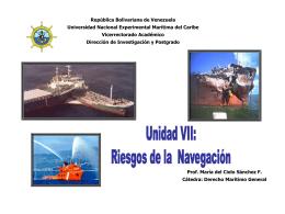 Unidad VII Riesgos de la Navegación