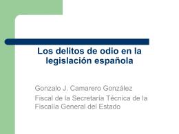 Los delitos de odio en la legislación española
