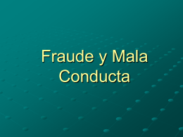 Fraude y Mala Conducta