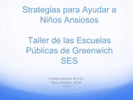 Strategies for Helping ansioso Niños Strategias para Ayudar a