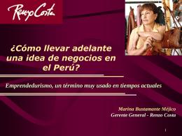 ¿Cómo llevar adelante una idea de negocios en el Perú?