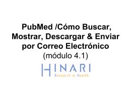PubMed /Cómo Buscar, Mostrar, Descargar & Enviar por Correo