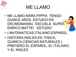 ME LLAMO - E. Mattei