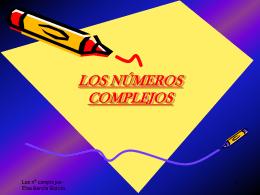 LOS NÚMEROS COMPLEJOS. - Aprendizaje significativo