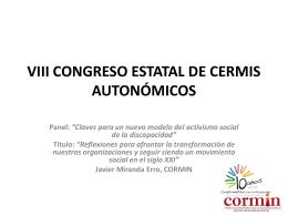 VIII CONGRESO ESTATAL DE CERMIS AUTONÓMICOS