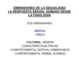dimensiones de la sexualidad la respuesta sexual humana