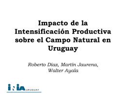 Impacto de la Intensificación Productiva sobre el Campo Natural en