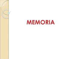 MEMORIA - PSIQUIATRIA