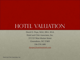 Pope - Hotel Valuation