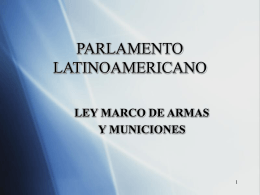 ley marco de armas de fuego, municiones y materiales controlados