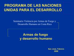 Impacto de las armas de fuego en el desarrollo humano