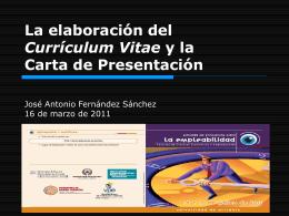 Taller Elaboración del Currículum Vitae y La Carta de Presentación