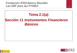 Tema 2.1(a) Sección 11 Instrumentos Financieros