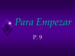 Español 1 Para Empezar