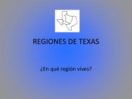 REGIONES DE TEXAS