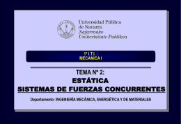 ITI 1º: MECANICA I - Ingeniería Mecánica Aplicada y Computacional