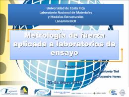 Metrología de fuerza aplicada a laboratorios de ensayo