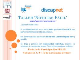 Taller Noticias Fácil: Presentación