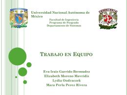 TRABAJO EN EQUIPO - Facultad de Ingeniería, UNAM