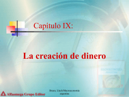 Capítulo IX: La creación de dinero