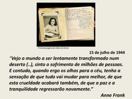 Anne Frank - Temas de História
