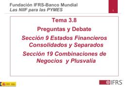 Tema 3.8 Preguntas y Debate Sección 9 Estados Financieros