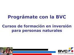 instrucciones para realizar el pago de los cursos bvc