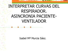 interpretar curvas del respirador. asincronia paciente