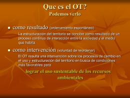 Que es el OT?