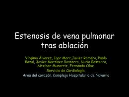 Estenosis de vena pulmonar tras ablación