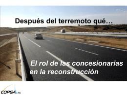 Nuevas formas de reconstrucción tras terremoto el rol de