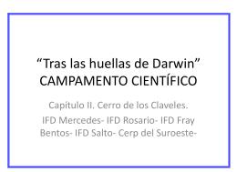 """""""Tras las huellas de Darwin"""" CAMPAMENTO CIENTÍFICO"""