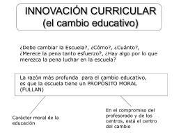 INNOVACIÓN CURRICULAR (el cambio educativo)