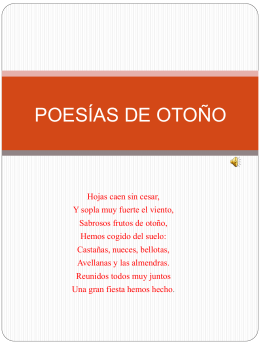 POESÍAS DE OTOÑO