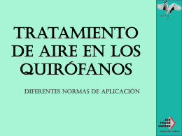 Tratamiento de aire en los quirófanos